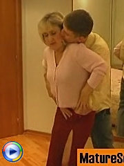 Mommy's in love with herself and her young partner's dick