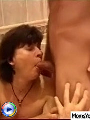 He saw milf entering the bathroom and thought that would be a good surprise if he joined her so he got naked and came in