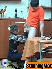 Naughty mature babe getting screwed right on the table in various positions