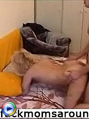Lad got the brightest experience of his 20 years of life with blond mature dame