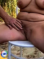 Fat mature lady wants young guy to be experienced so she share with him all the old school sex tricks she knows