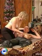 Lovely mature lady enjoys a wild fuck with her son's best friend