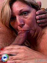 Granny large breasted old mature slut fucking