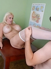 Huge boobs milf nurse