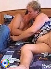 A big mature bitch enjoys being fucked dirty by a young stud