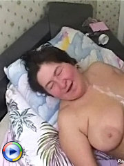 She loves young dick penetrate her fat hairy pussy