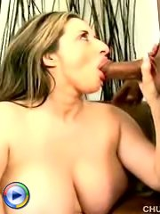 A beautiful blonde chubby with massive titties gets laid here
