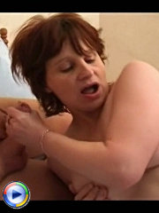 Older housewife babe hooks up with two strange men