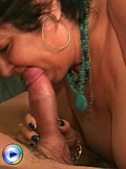 Plump granny satisfies her cock hunger