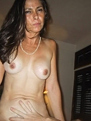 Old slut and young man in sex