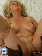 Curvy milf riding a black dick with her pussy