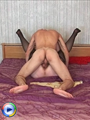 King size mom deepthroats on big creamy cock and gets banged and creampied on a king size bed