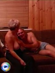 Filthy old bitch was lucky to seduce her son's best buddy and fuck his dick hard