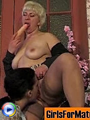 Horny mature chick satisfying her sex-fever in lez games with young babe