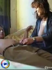 Sex starved mature pussy is lucky to have a young fucker to play with
