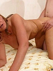 Sassy blonde mature has her ass licked and stuffed