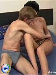 Hot tight old chick gets her mature pussy boned with a hard young cock