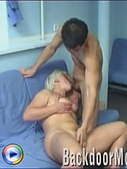 Mature slut facialed after double anal fucking