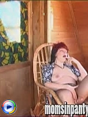 Horny aged beauty cunt rubbing in pantyhose