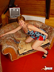 Sophia is mad. she's been married 3 months and her husband is already fucking around. sophia doesn't know what to do. so she goes to granny's house and granny does her best to make sophia feel better. all girl, clit licking, tit rubbing, di