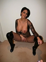 Big titted british slut enjoys an old cock