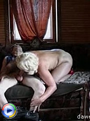 Hot mature chick doesn't stop till she suck out all the cum of her young lover