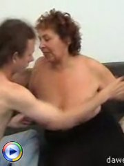 Fat ass mature bitch gets fucked by a horny and nasty young dick