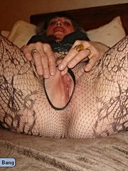 Fucked up the ass and cum on her tits for this older slut