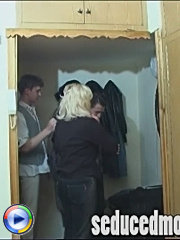 Mom gets seduced and fucked by two dudes