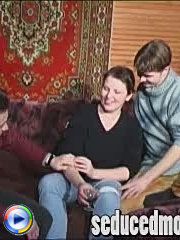 Naughty mom enjoys doing it with two guys