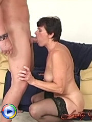 Hairy pussied granny fucking with her drunk son