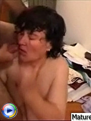 Hot hardfucking is the only thing milf can think about when they are together with her young lover and he fucks all her holes right on the floor