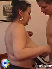 Voluptuous milf eager to spread her meaty thighs for a younger cock